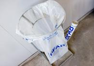Säckställning och plastsäckar